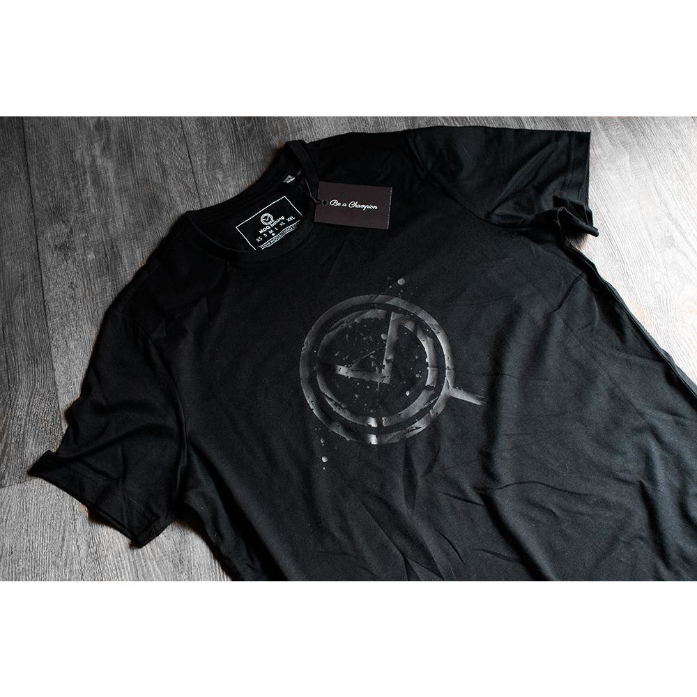 """LIGHTS OUT"" Mens Black on Black Tee"