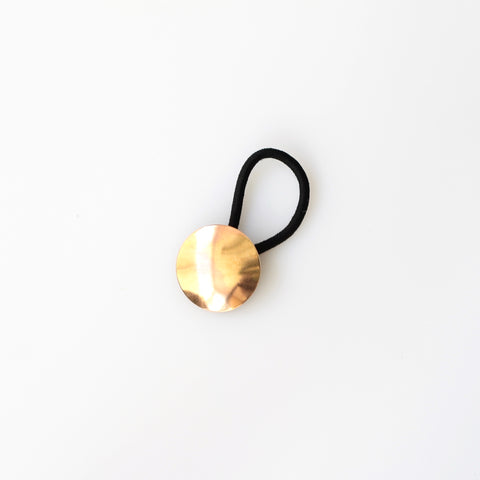 Domed Brass Hair Tie