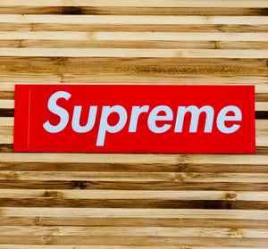 Sticker Supreme Box Logo Red