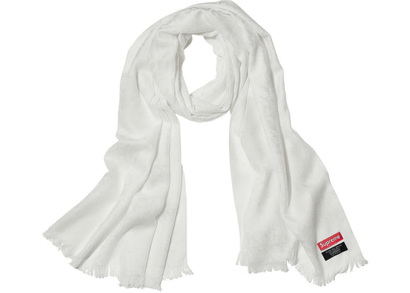 Supreme Fuck Wool Scarf White