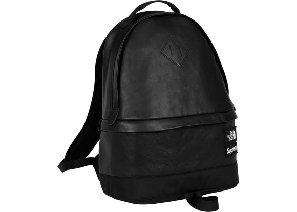 Supreme North Face Leather Day Pack Black