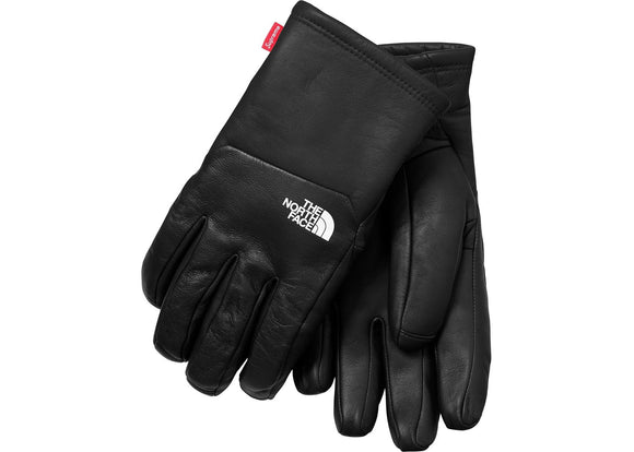 Supreme North Face Leather Gloves Black
