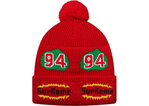 Supreme Red Leaf Beanie