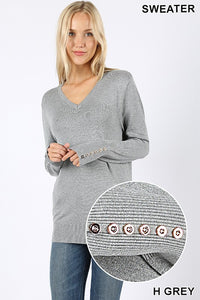 SOMETHING TO LOVE SWEATER (HEATHER GRAY)