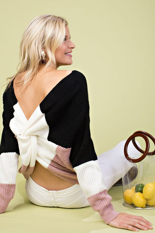 LUSH OPEN BACK SWEATER