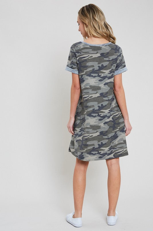 DAY DREAMER CAMO DRESS