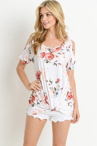 LADIES LOVE FLORAL TOP