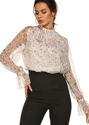 DATE NIGHT ELEGANT CHIFFON BLOUSE