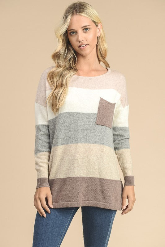 COZY LIFE BLOCK SWEATER