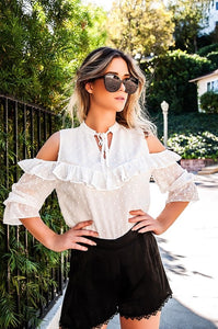 DELILAH COLD SHOULDER BLOUSE