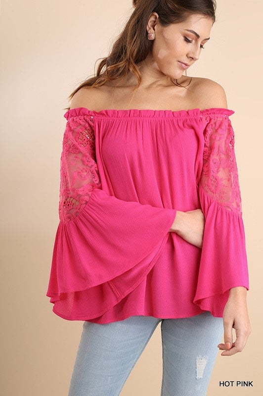 AMBREA OFF THE SHOULDER BLOUSE