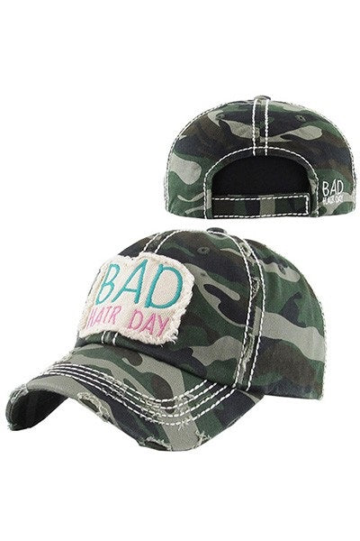 BAID HAIR DAY CAMO CAP