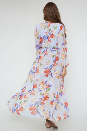 DAZZLE FLORAL ROMPER MAXI DRESS