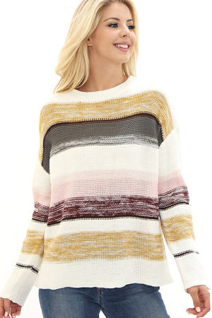 LIVE BOLDLY BLOCK SWEATER