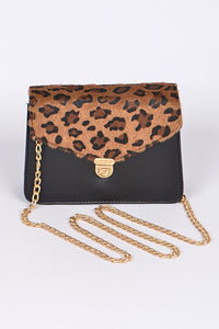LEOPARD AND BLACK CLUTCH