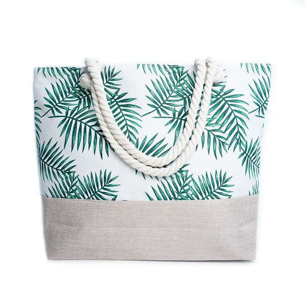 CARRY ON PALM LEAF BAG