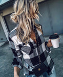 ALOE PLAID BUTTON DOWN TOP
