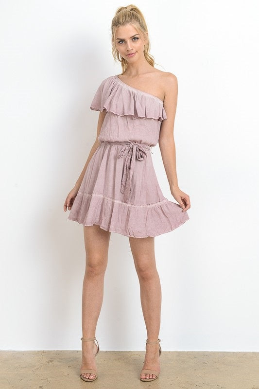 PRETTY WOMAN RUFFLE DRESS