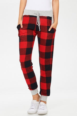 BUFFALO PLAID JOGGER PANTS