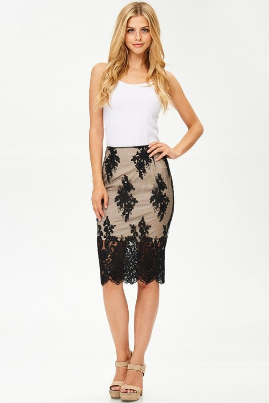 COLLECTIVE HIGHLINE MIDI SKIRT