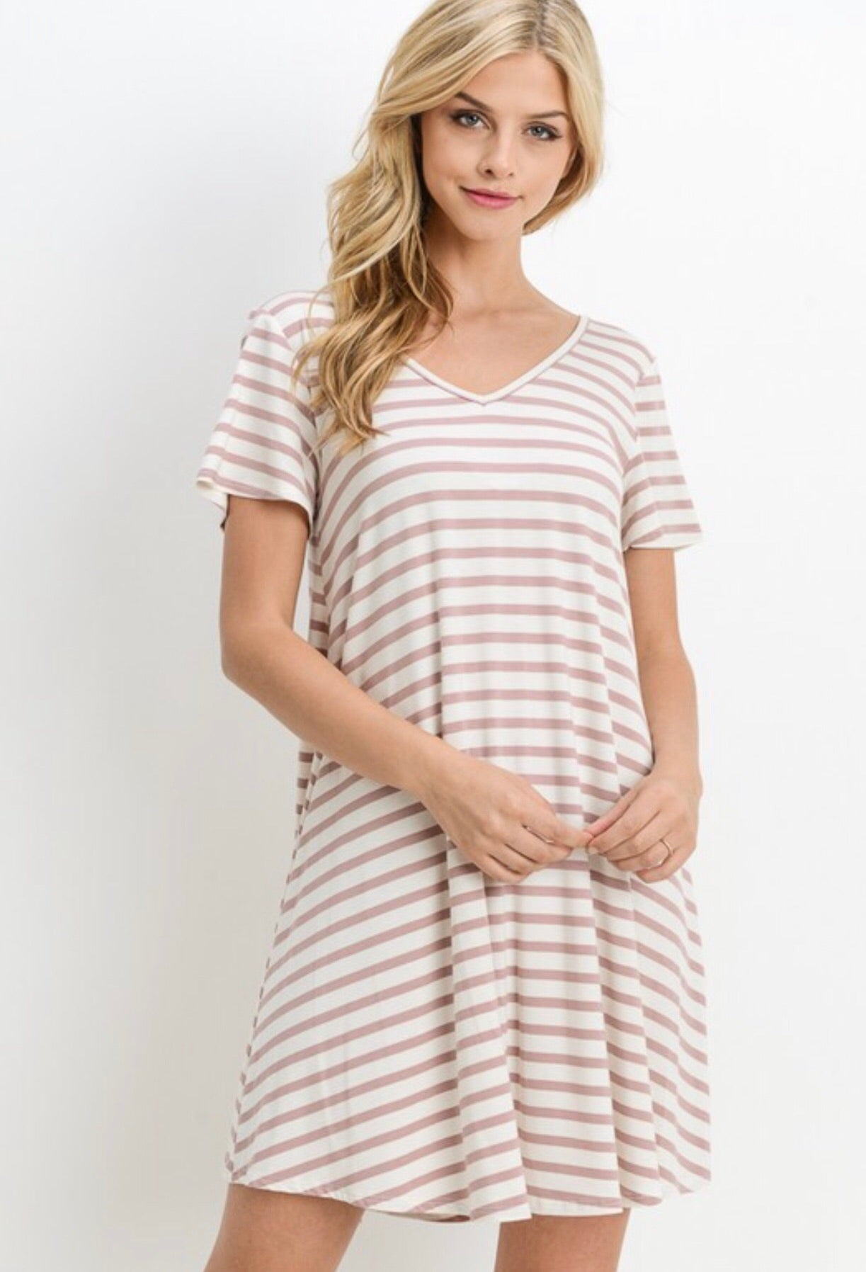THE CASSIE DRESS - BLUSH