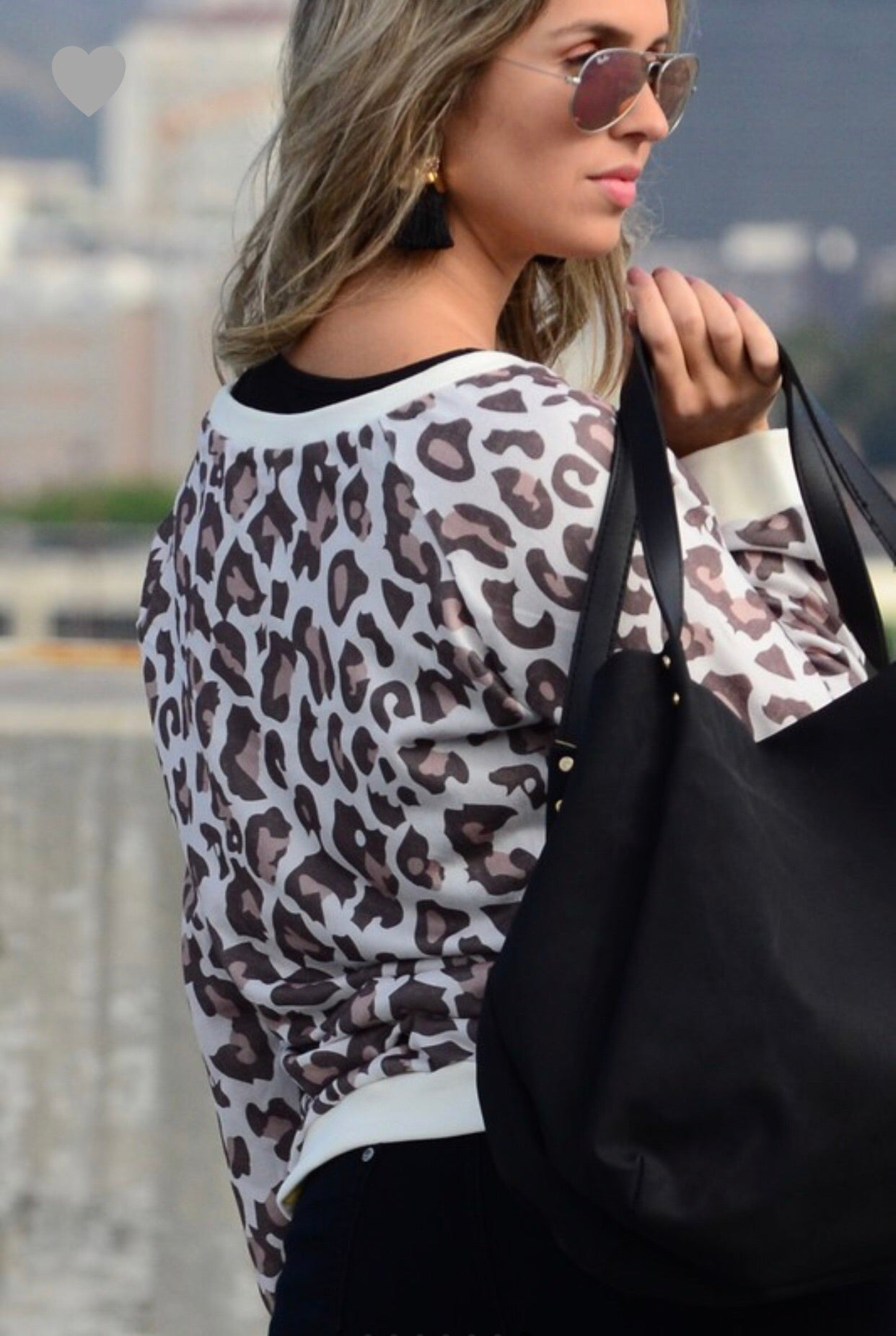 ADRIAN LEOPARD PULLOVER SWEATER