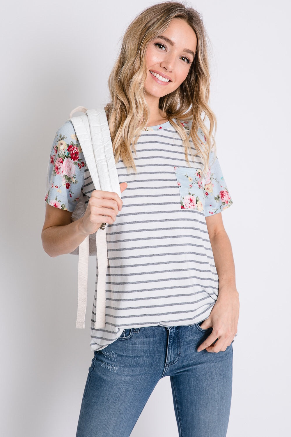 CAREFREE TOP, LIGHT BLUE