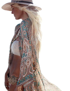 OFF TO THE BEACH FLORAL KIMONO