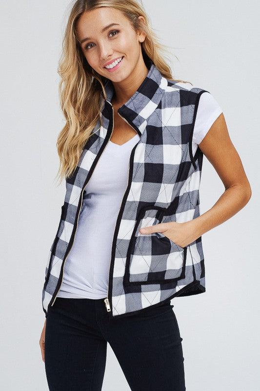 FALL IN LOVE PLAID VEST