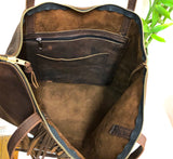 Hair on Leather Bag / Cow hide tote