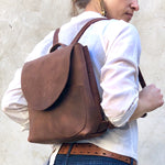 Small brown backpack , travel bag