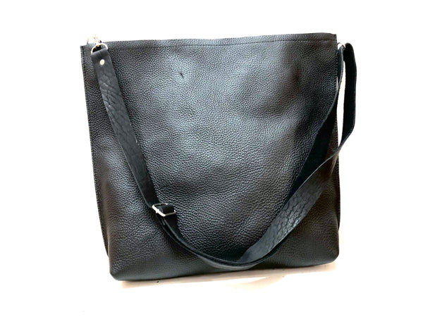 Leather tote bag, Crossbody Leather tote, Two in One leather handbag