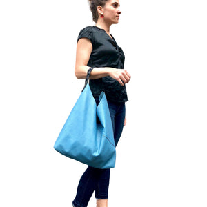 Leather hobo shoulder bag, Soft slouchy shoulder bag