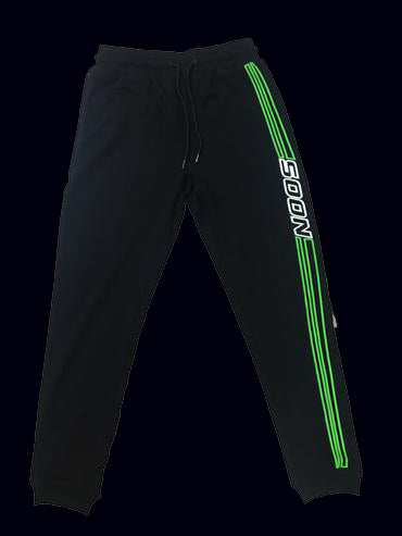 "Green ""Soon"" Racer Track-Pants"