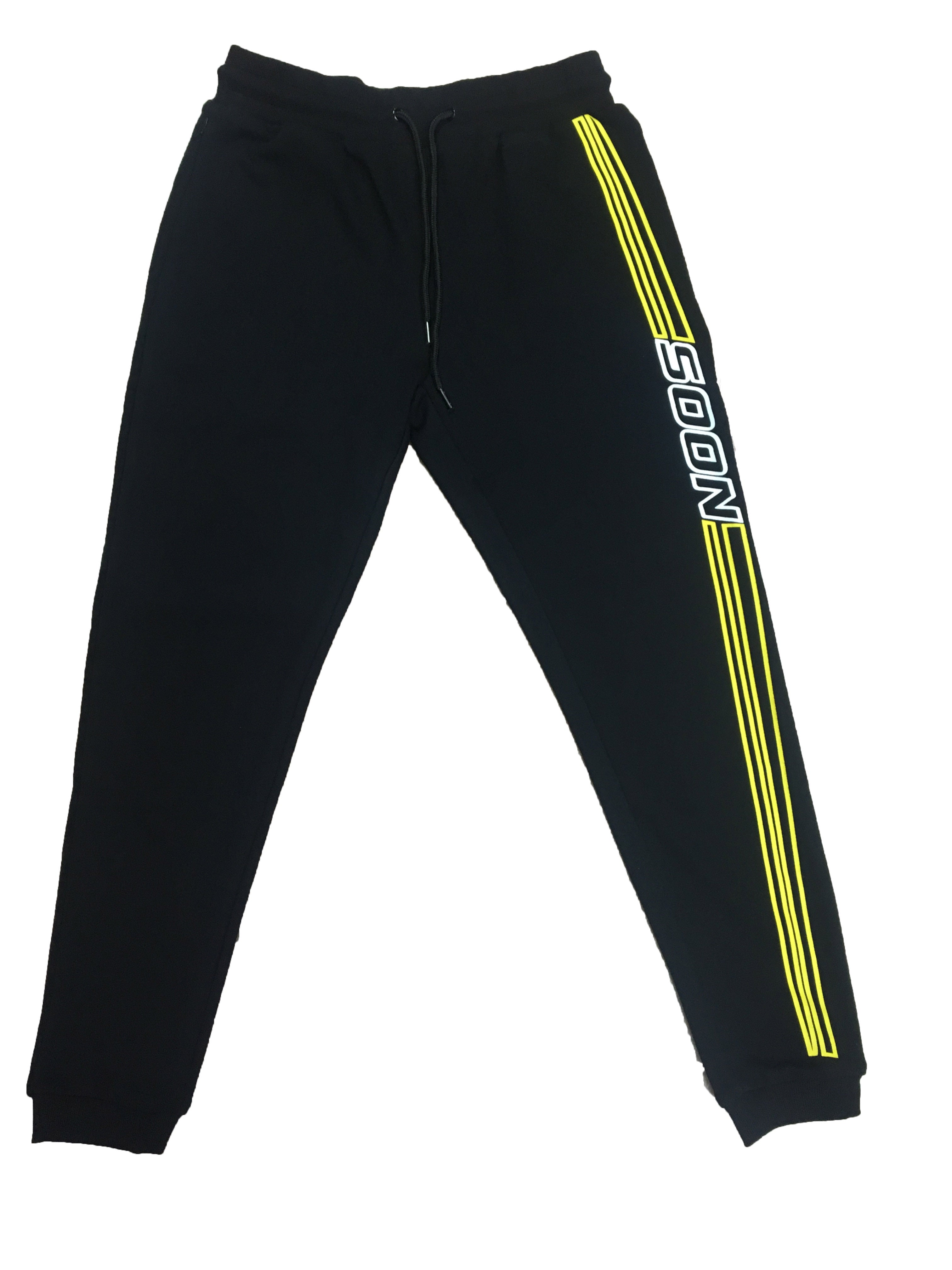 "Yellow ""Soon"" Racer Track-Pants"