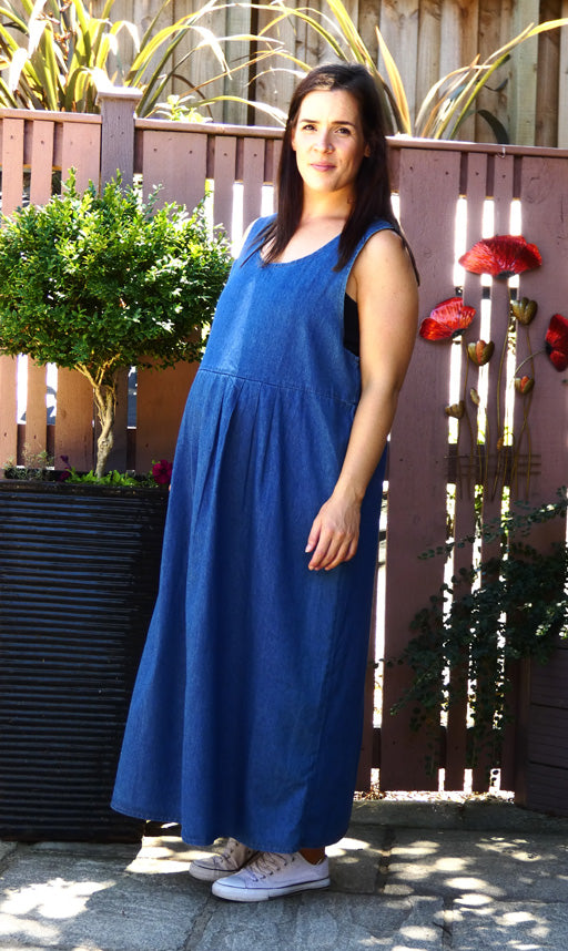 Long Denim Pinafore