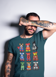 Super Heroes Dogs Mens T-shirt