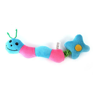 Plush Caterpillar Squeaky Dog Toy or Cat Toy