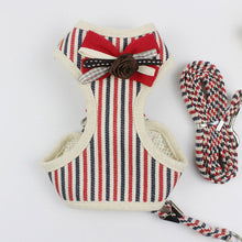 Striped Small Dog Harness and Leash Set  Cat Harness