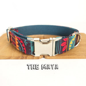 Vintage Pattern Designer Dog Collar And Leash