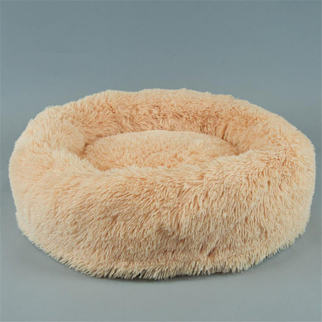 Luxury Dog Bed Faux Fur Round Dog Bed for Small Dogs