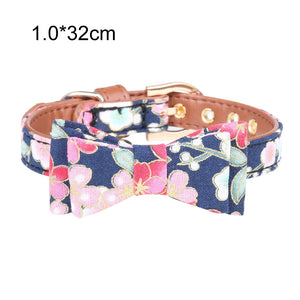 Floral Print Small Dog Leash, Collar  or Bandana