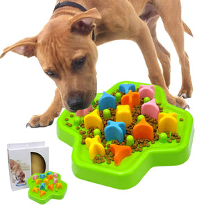 Interactive Dog Bowl Puzzle Bowl