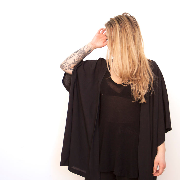 Cocoon Shawl - Black