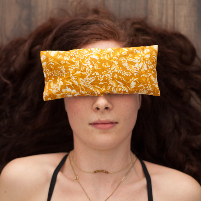 Lavender Eye Pillow - Yellow Paisley