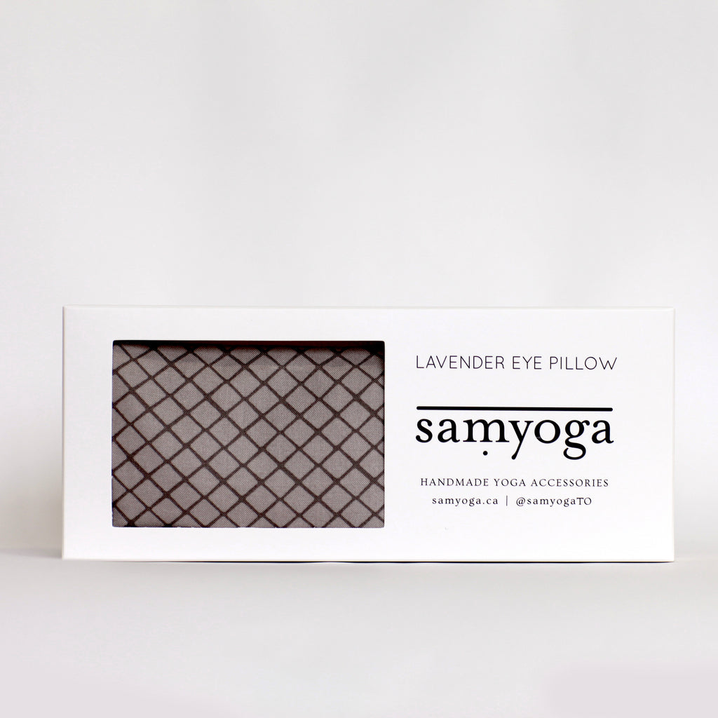 Lavender Eye Pillow - Grey Geometric