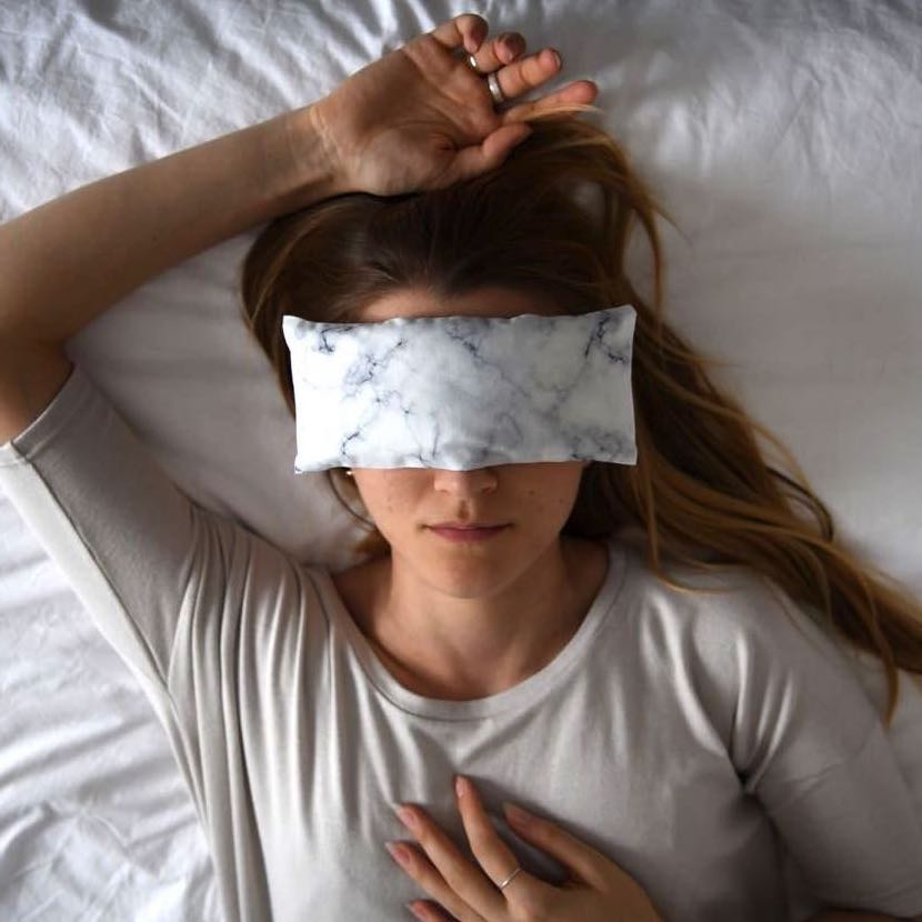 Lavender Eye Pillow - White Marble