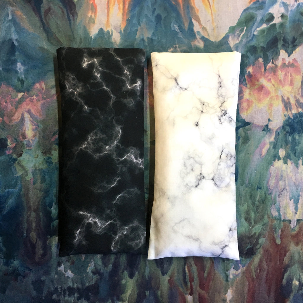 Lavender Eye Pillow - Black Marble