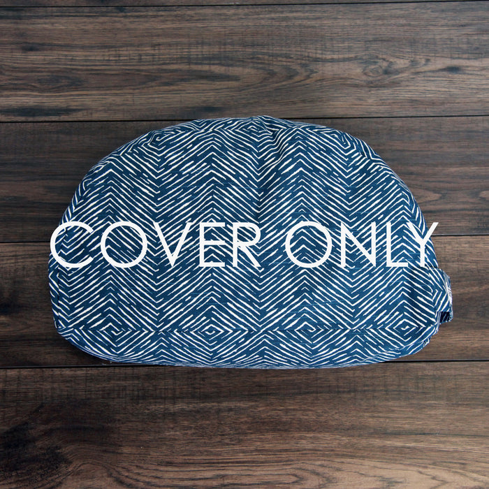 Meditation Cushion - Navy Arrow - COVER ONLY
