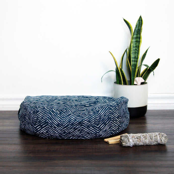 Meditation Cushion - Navy Arrow
